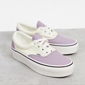Vans Era Two Tone Platform Sneakers Nirvana Lilac